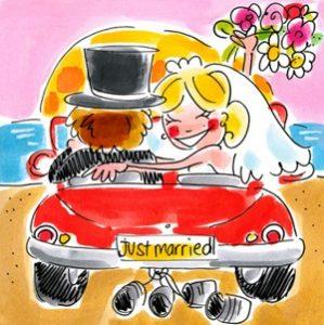 Huwelijkswensen kaart