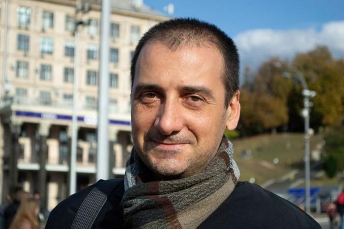 Мілан Загорац. Київ, Майдан Незалежності, 11 жовтня 2019 р. Фото Оляни Рути