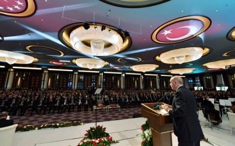 Президент Туреччини Реджеп Тайип Ердоан виступає на відкритті Національної бібліотеки