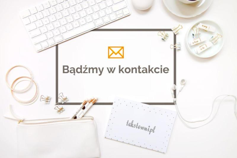 , Podziękowanie zazapis donewslettera, Tekstowni.pl