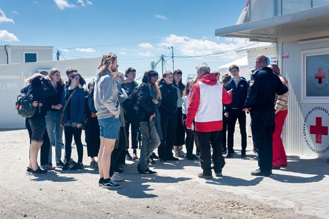 Rundtur i Tabanovtse Transit Camp, 24. april 2017.