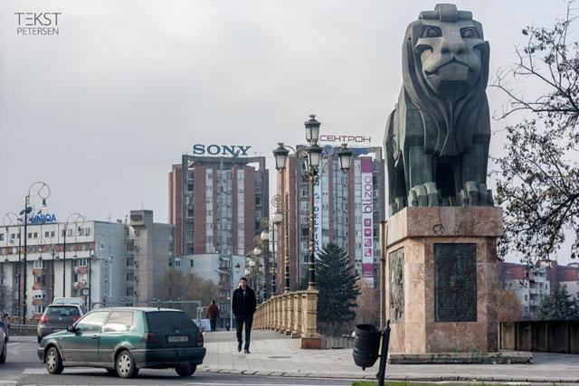 Skopje 2014 Løve Goce Delčev-broen