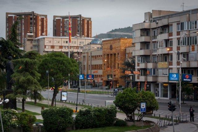 Parlamentet (Sobranie) fredag den 28. april klokken 19.00, Skopje, Makedonien