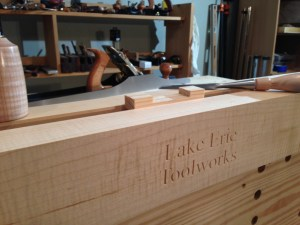 Cutting the waste from the notch in Moxon vise by Lake Erie Toolworks