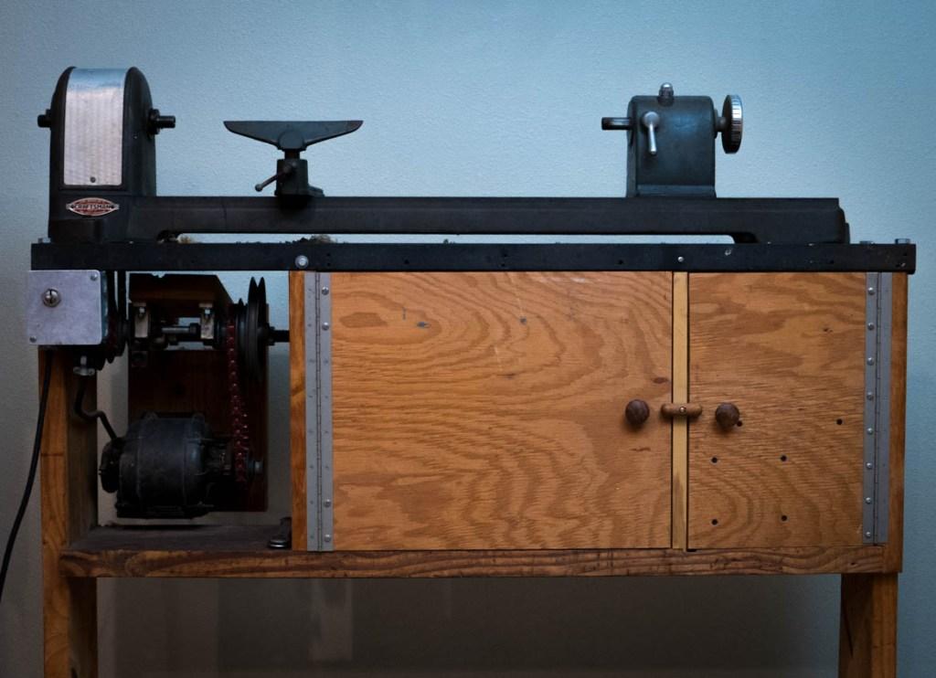 "The Craftsman Model ""80"" Lathe."