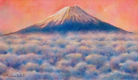 臨場 白形毅史 透明水彩画展 アートギャラリー風