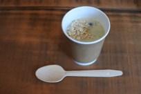 「新メニュー??」になるかもの、冬にうれしいスープを少し試食でいただきました。