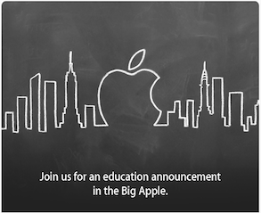 Apple invites the media for an 'education announcement' next week in New York!