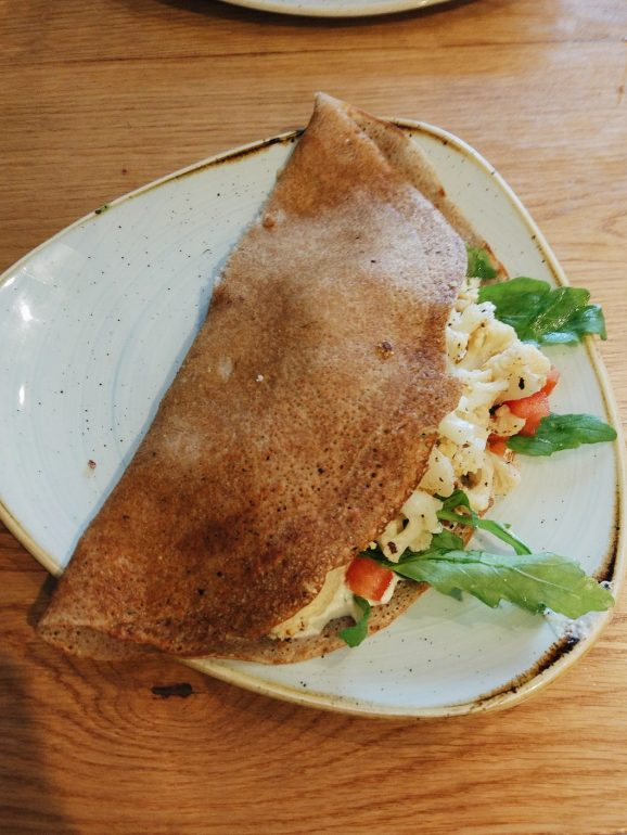 vegan cauliflower crepe
