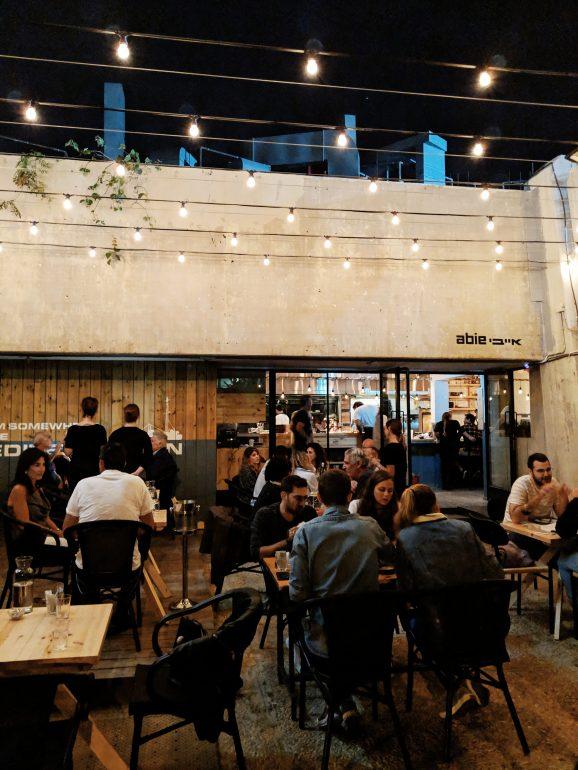 abie restaurant in tel aviv outdoor bar