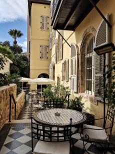 the drisco hotel tel aviv jaffa backyard