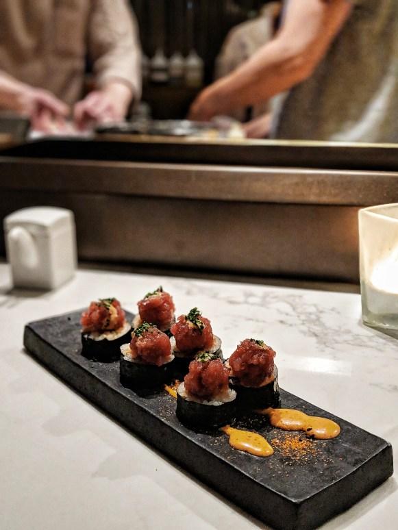 The Dinings Japanese restaurant Tel Aviv tuna roll
