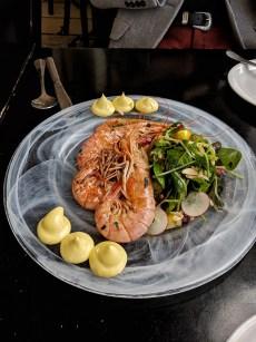 helena restaurant at Caesarea harbour Shrimp