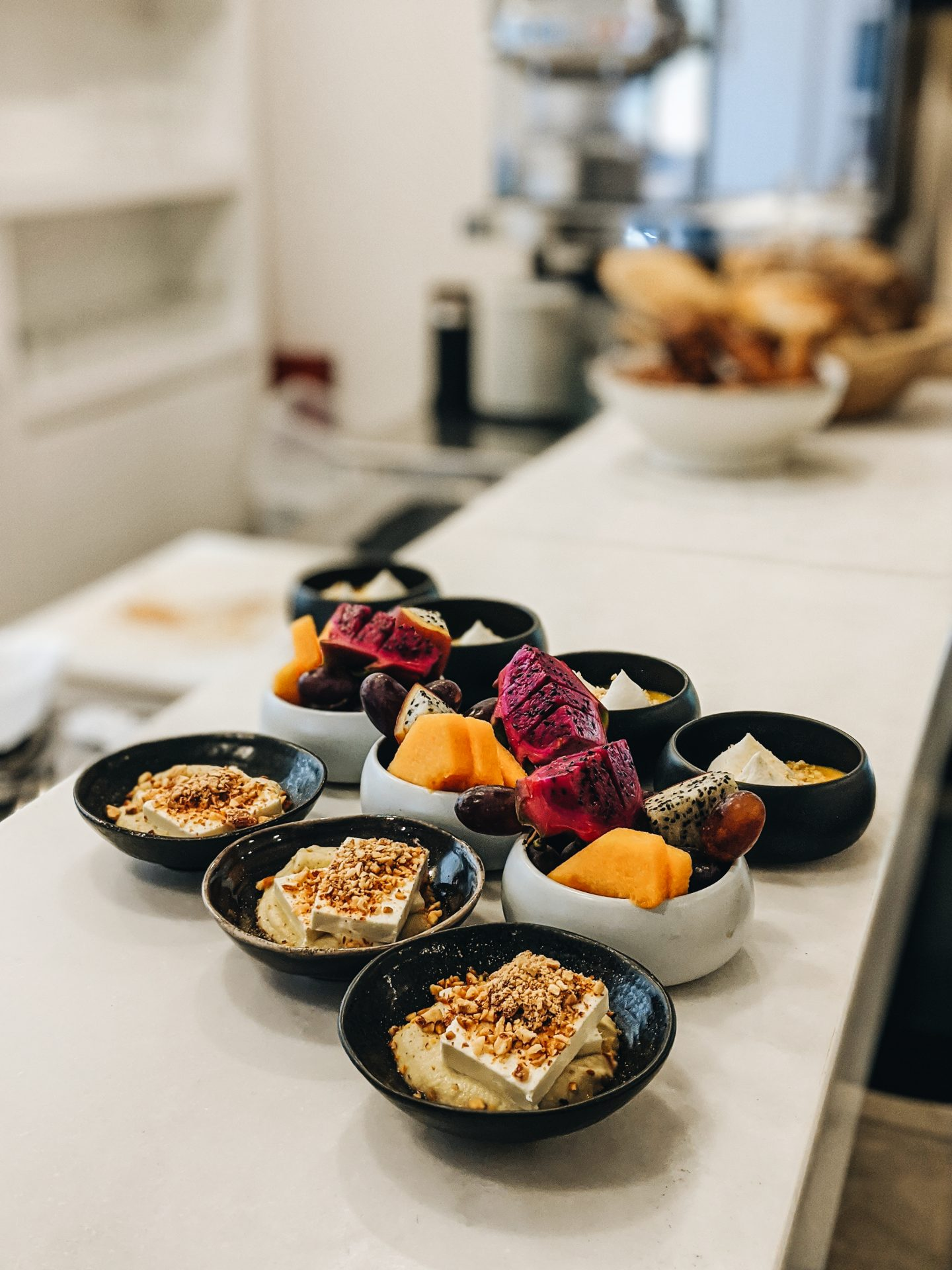 White villa hotel breakfast