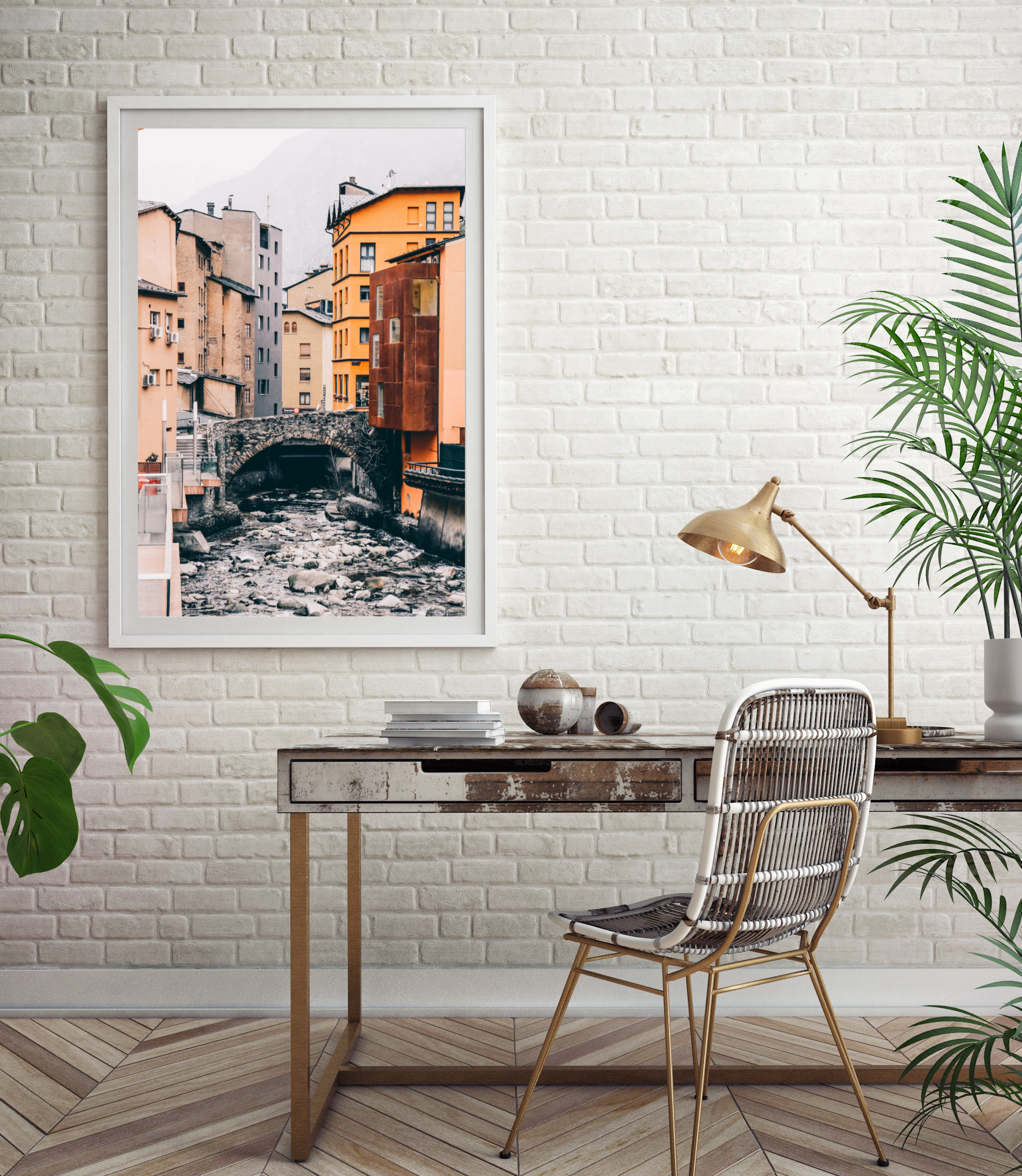 Andorra buildings print