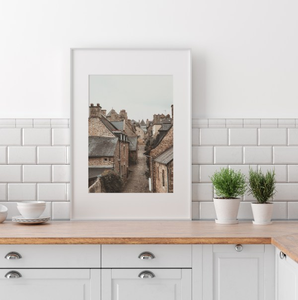 france small village wall print