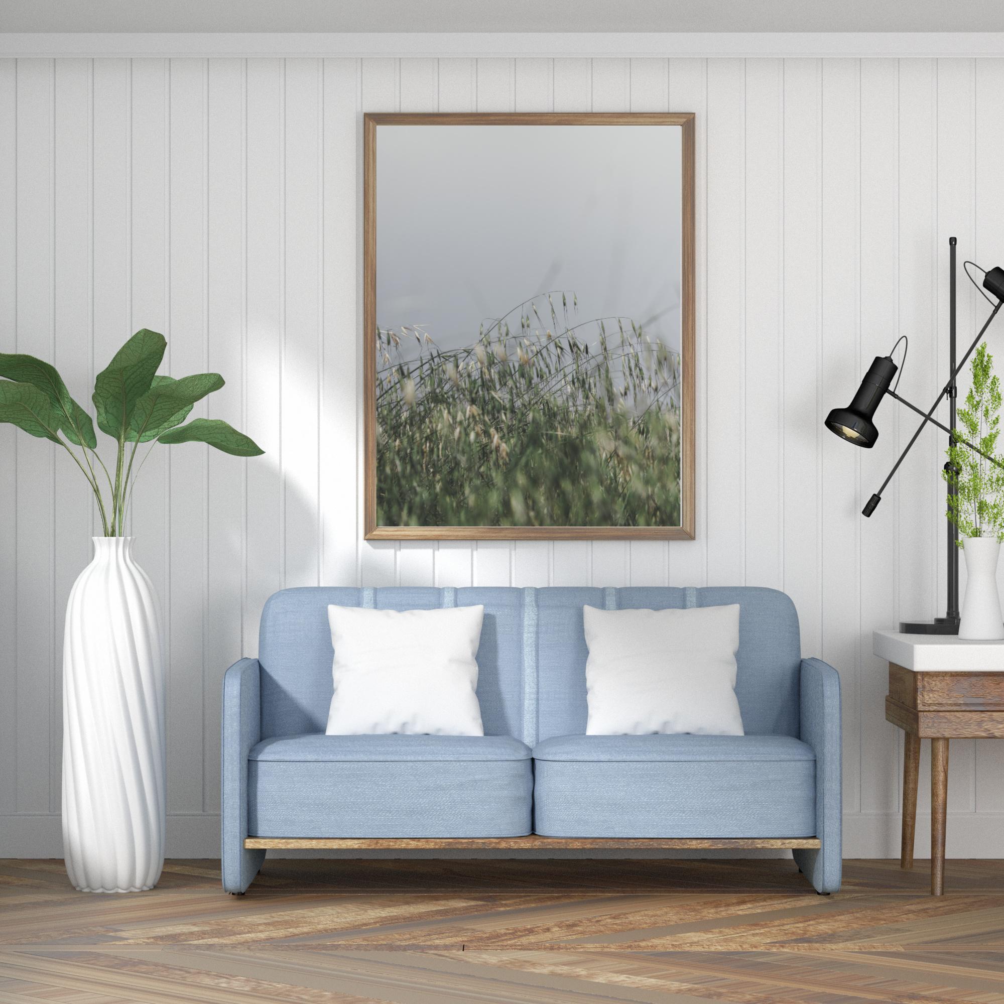 green nature wall print