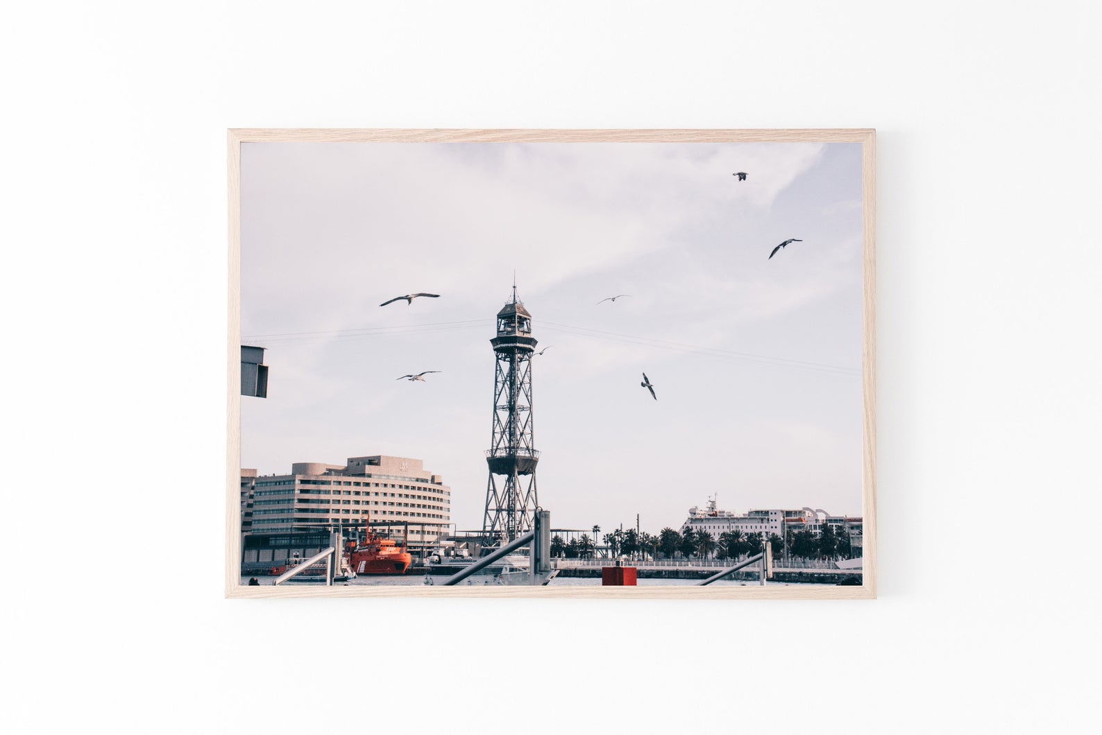 Barcelona port wall print photography