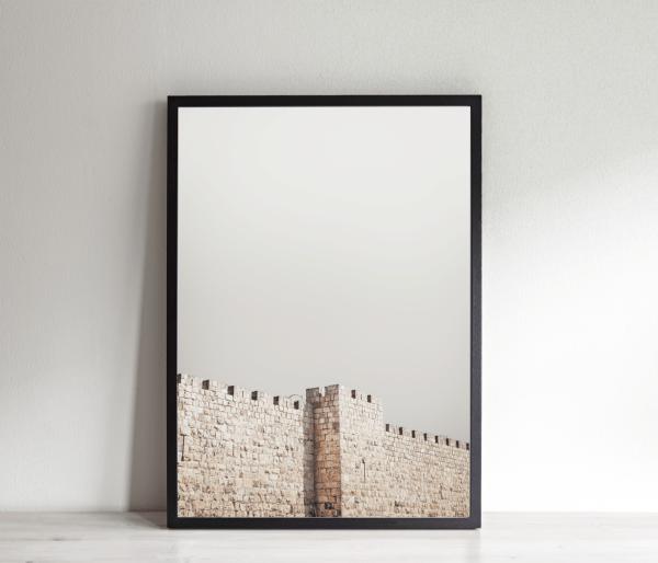 israel jerusalem wall print