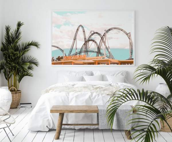 roller coaster wall print