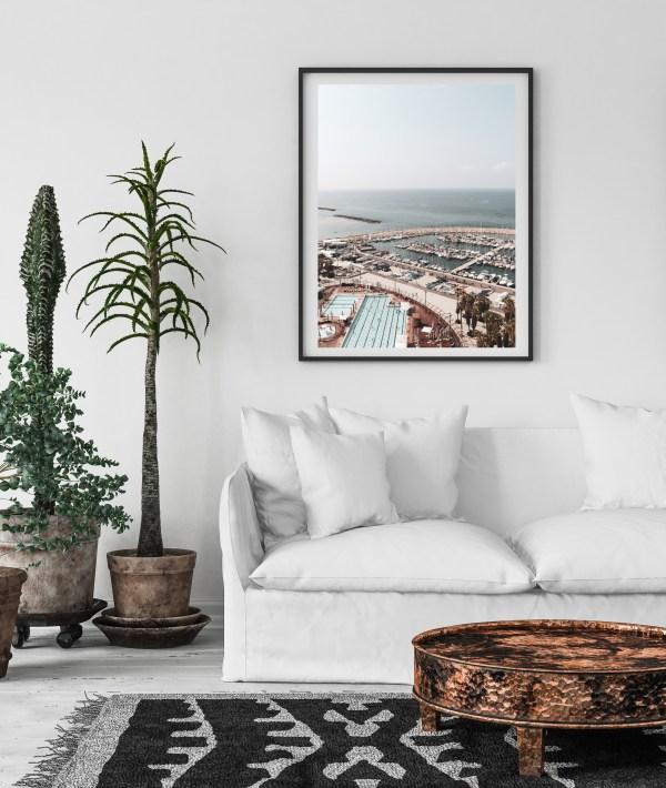 tel aviv beach and pool print
