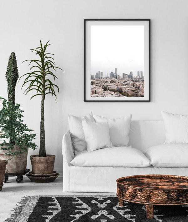 Tel Aviv's skyline print