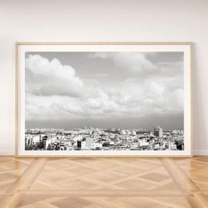 tel aviv rooftops black and white print