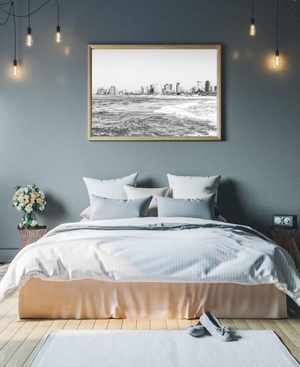 tel aviv black white wall print