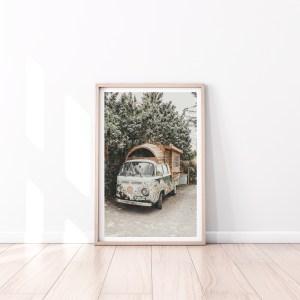 VW camper poster print