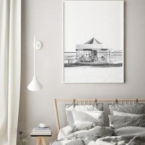 black and white carousel tel aviv