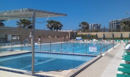 swimming pool of okeanosbamarina in herzliya short term rental
