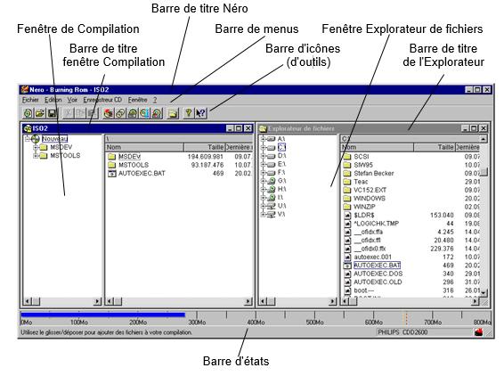 interface utilisateur nero