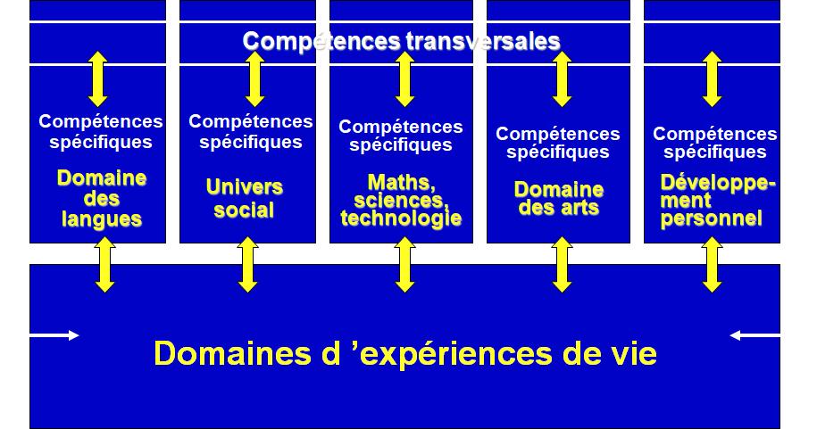 Compétences spécifiques (notamment disciplinaires) et compétences transversales