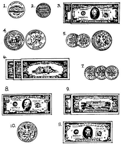 ten dollar bill argent en anglais