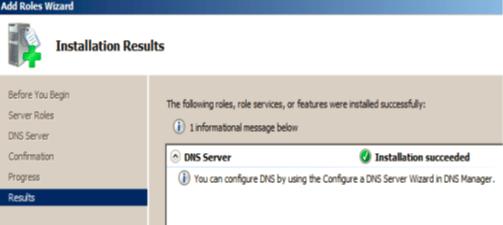 Installation du service DNS4