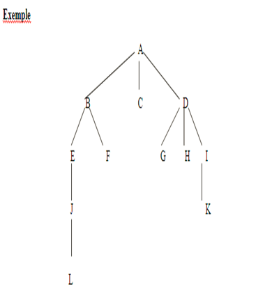 l'ordre de visite des nœuds pour le parcourt  préfixe