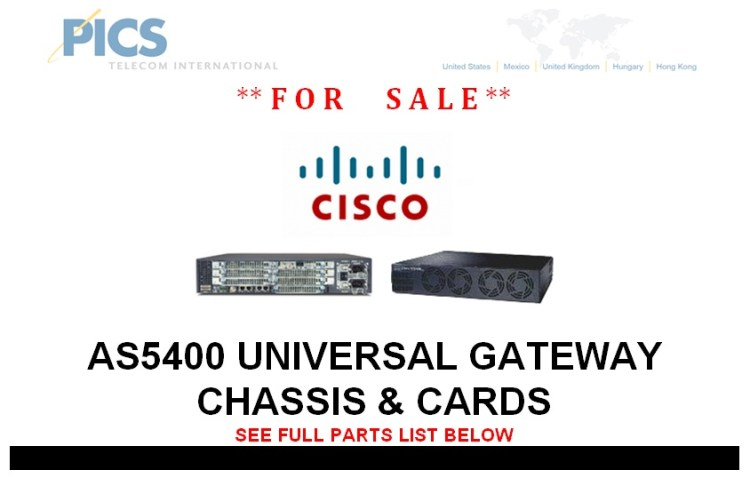 Cisco AS5400 Chassis & Cards For Sale Top