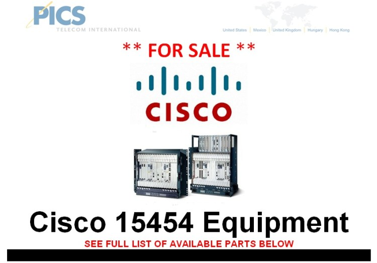 Cisco 15454 Euipment For Sale Top