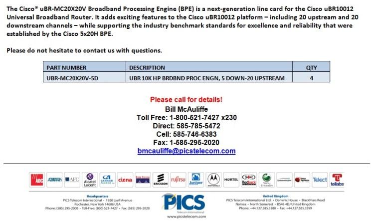Cisco UBR-MC20X20V-5D For Sale Bottom