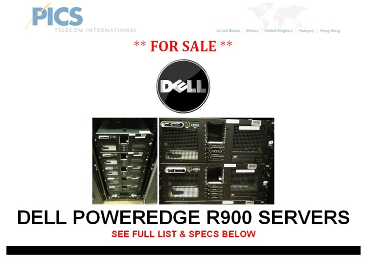 Dell PowerEdge R900 Series Servers For Sale Top (8.22.13)