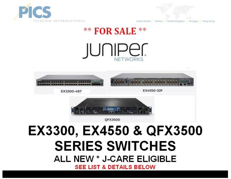 Juniper EX & QFX Switches For Sale Top (10.8.13)