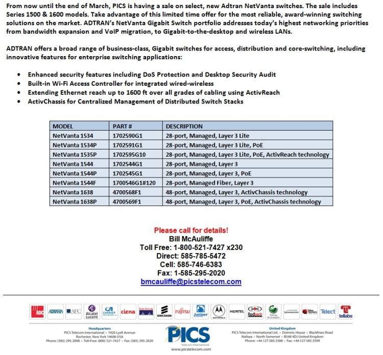 Adtran NetVanta 1500 & 1600 Series Switches For Sale Bottom (1.9.14)