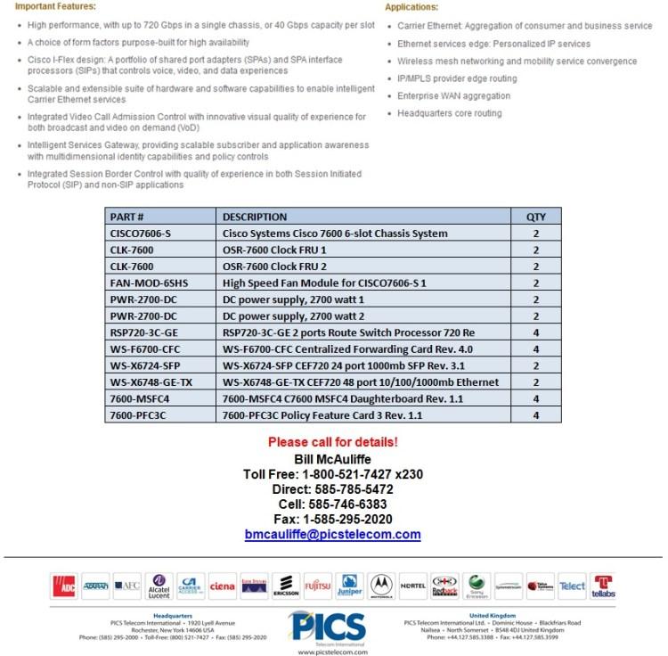 Cisco 7600 Series Equipment For Sale Bottom (1.13.14)
