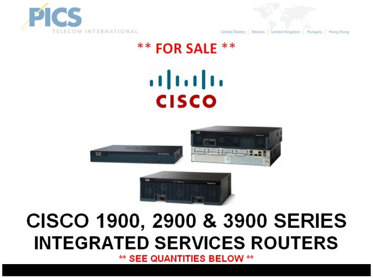 Cisco 1900, 2900 & 3900 Series Routers For Sale Top (4.1.14)