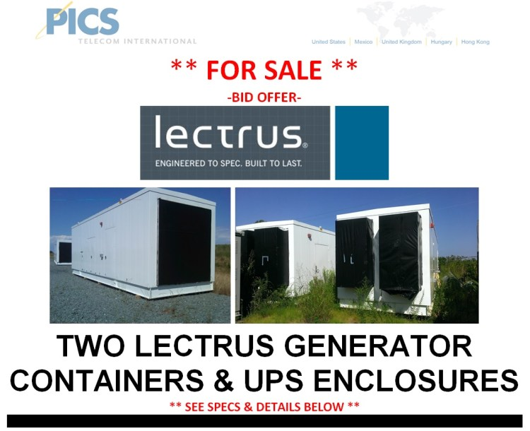 Lectrus Generator & UPS Containers Bid Offer Top (9.30.14)