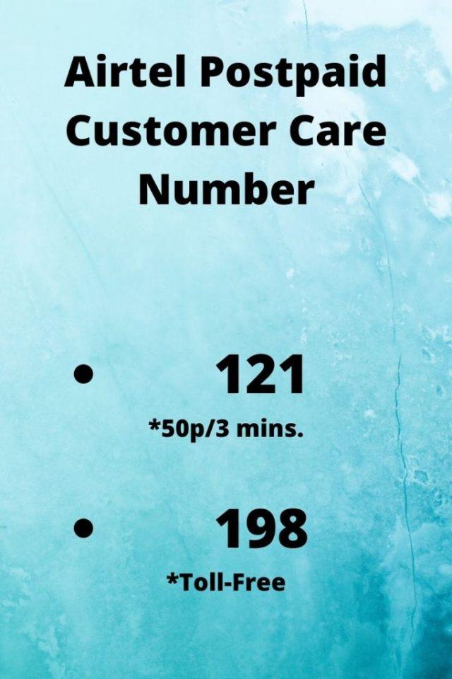 Airtel Postpaid Customer Care Number