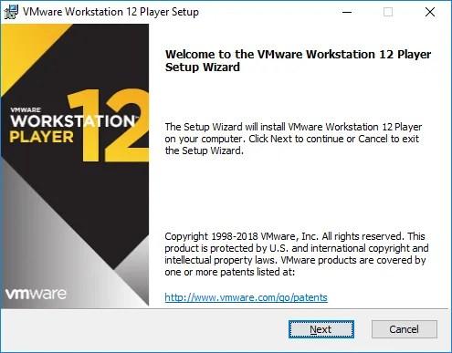 Inicio de Instalación VMware Worstation 12 Player