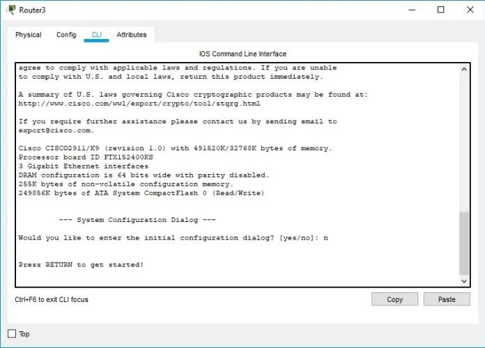 Figura 12. Interfaz CLI para configuración por línea de comandos