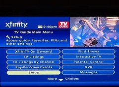 Cable Channel Lineup Screen
