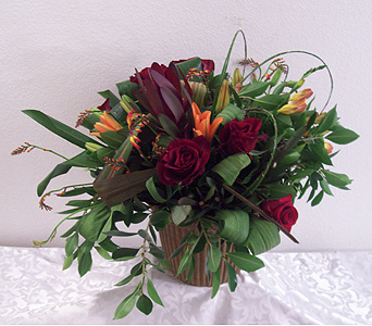 Lilies and Roses in Recreations Pot